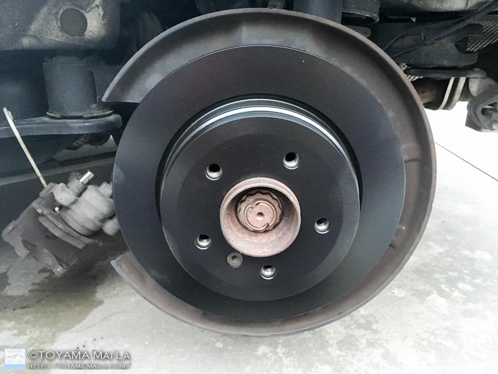 BMW 3 E91 ブレーキローター 塗装 交換 DIY メンテナンス 7