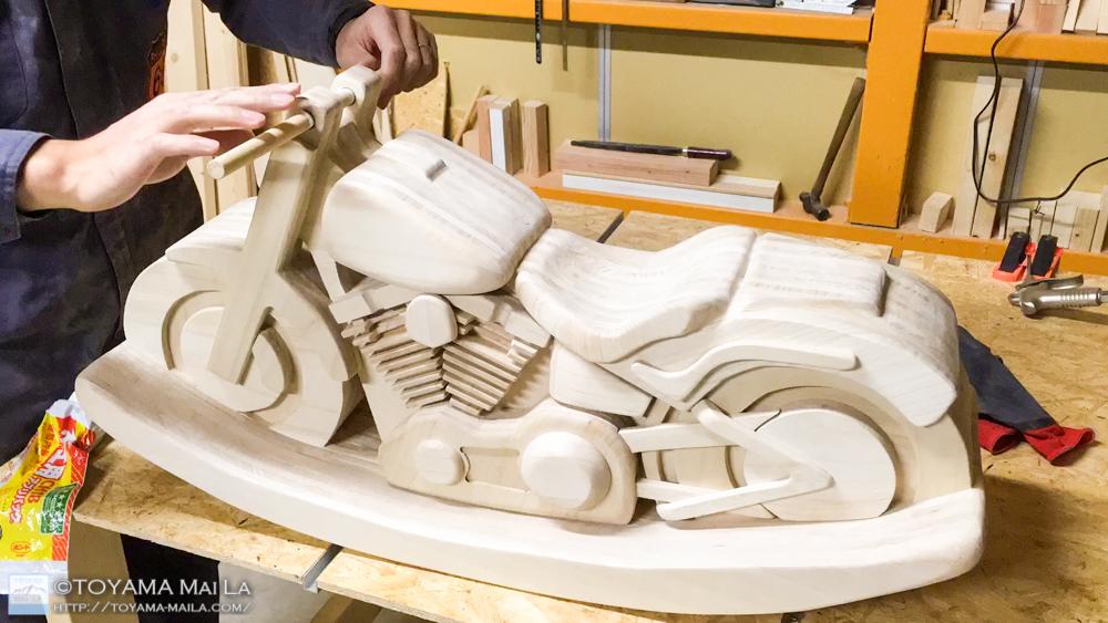 木バイク Day21 DIY 木馬 RockingMotorcycle 5