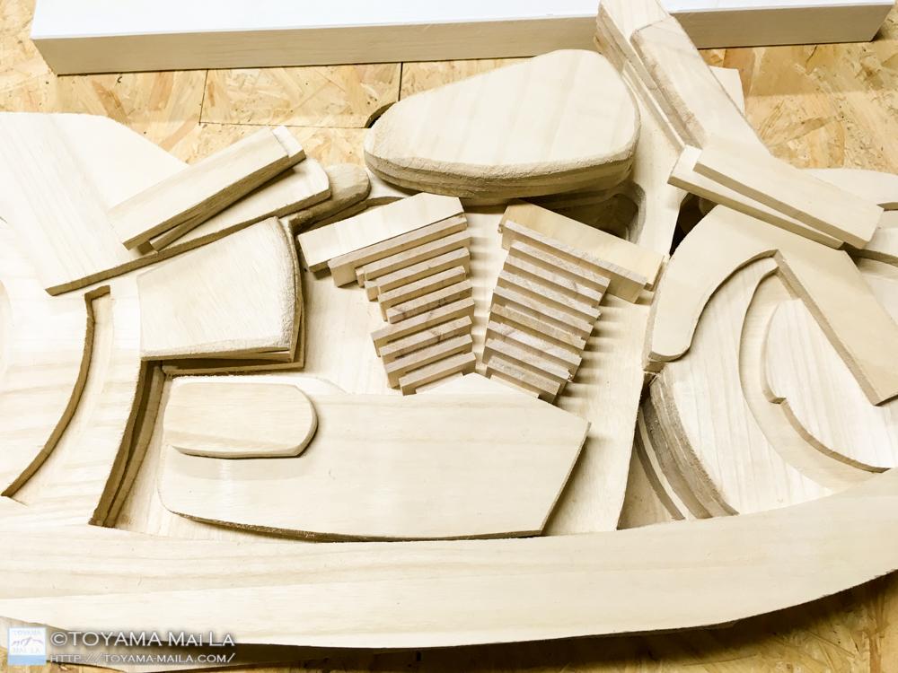 木バイク エンジン フィン部分 木馬 DIY 1