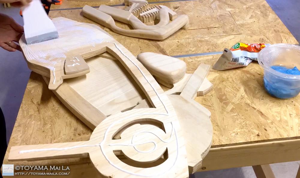 木バイク Day9 木馬 DIY 4
