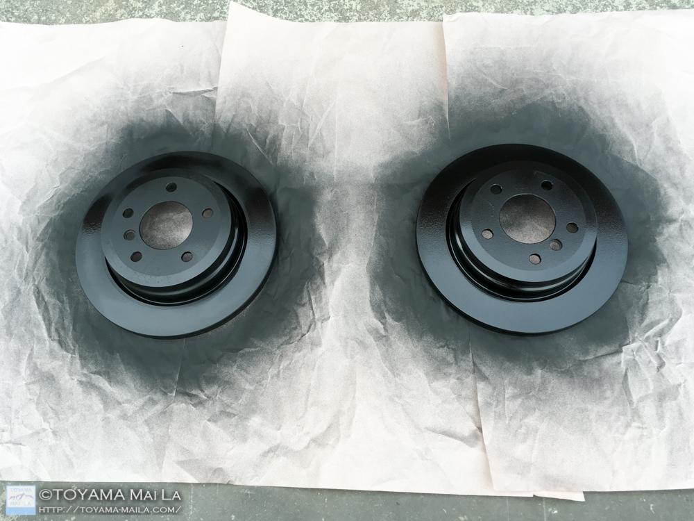 BMW 3 E91 ブレーキローター 塗装 交換 DIY メンテナンス 6