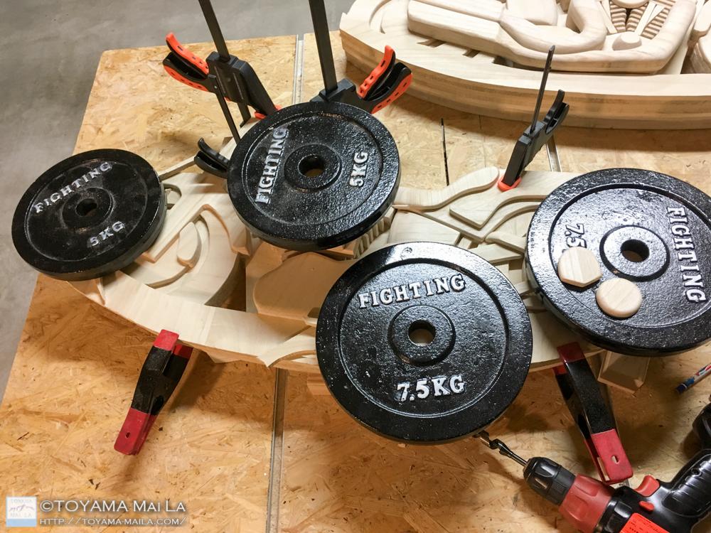 木バイク Day14 DIY 木馬 RockingMotorcycle 3
