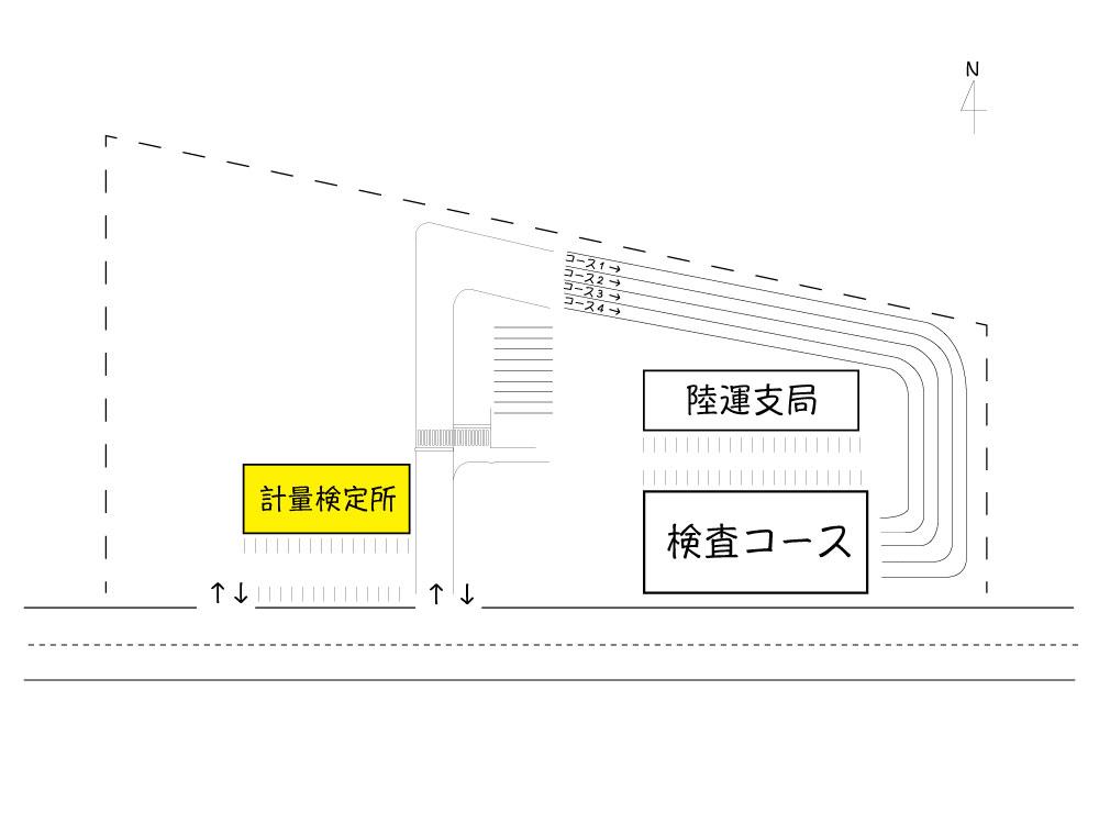 富山 ユーザー車検 計量検定所