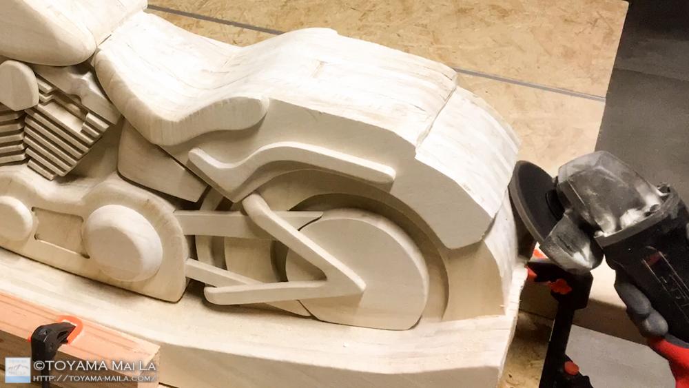 木バイク Day20 DIY 木馬 RockingMotorcycle3