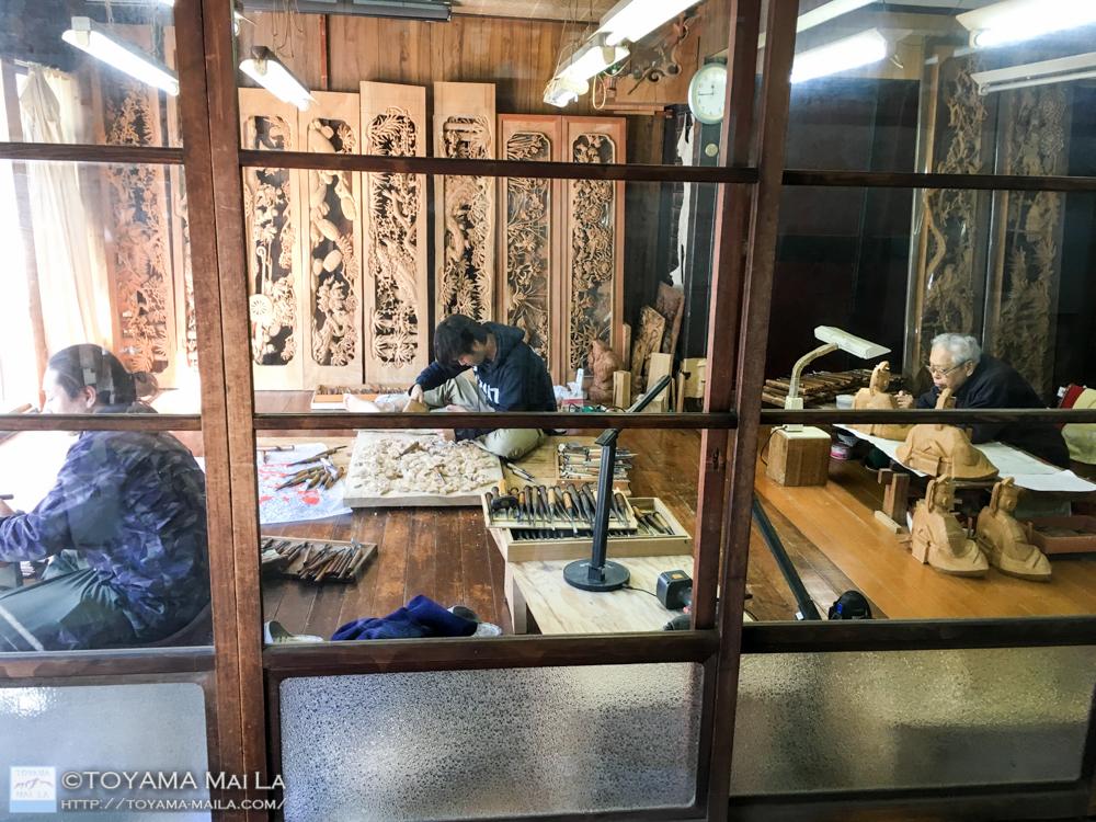 天神様 井波彫刻 木彫り 13