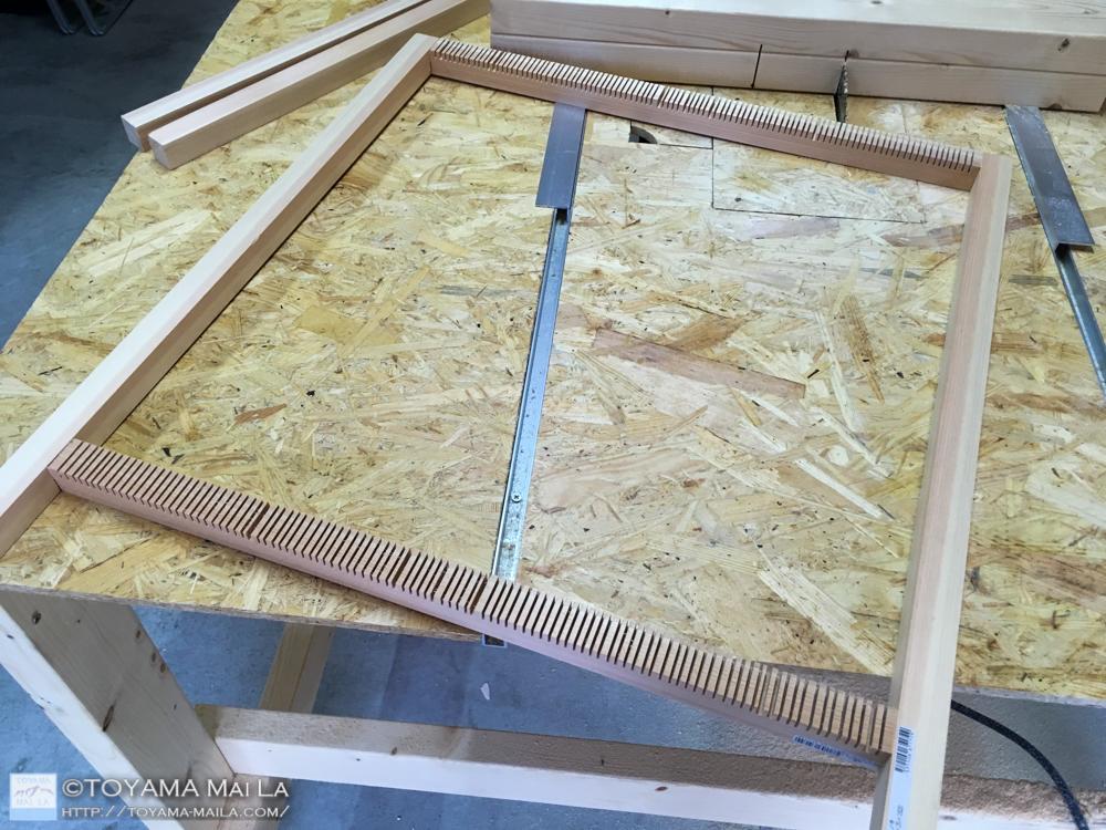 織り機 DIY weaving loom 4