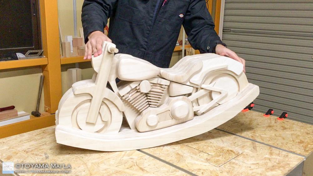 木バイク Day20 DIY 木馬 RockingMotorcycle2