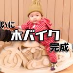 [完成]ついに木バイクが完成!生後5ヶ月の息子も大興奮か?!