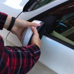 BMW3(E91)左サイドミラーの【強引な】角度矯正・修正方法