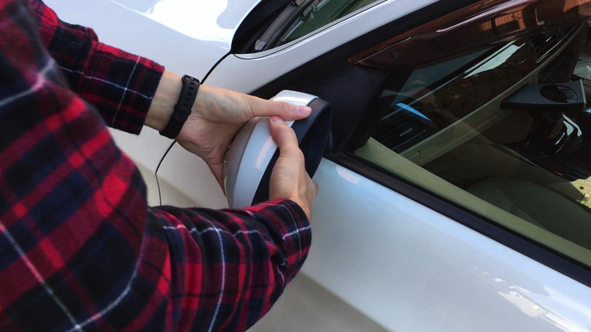 BMW E91 左ミラー 角度 修正 直し2