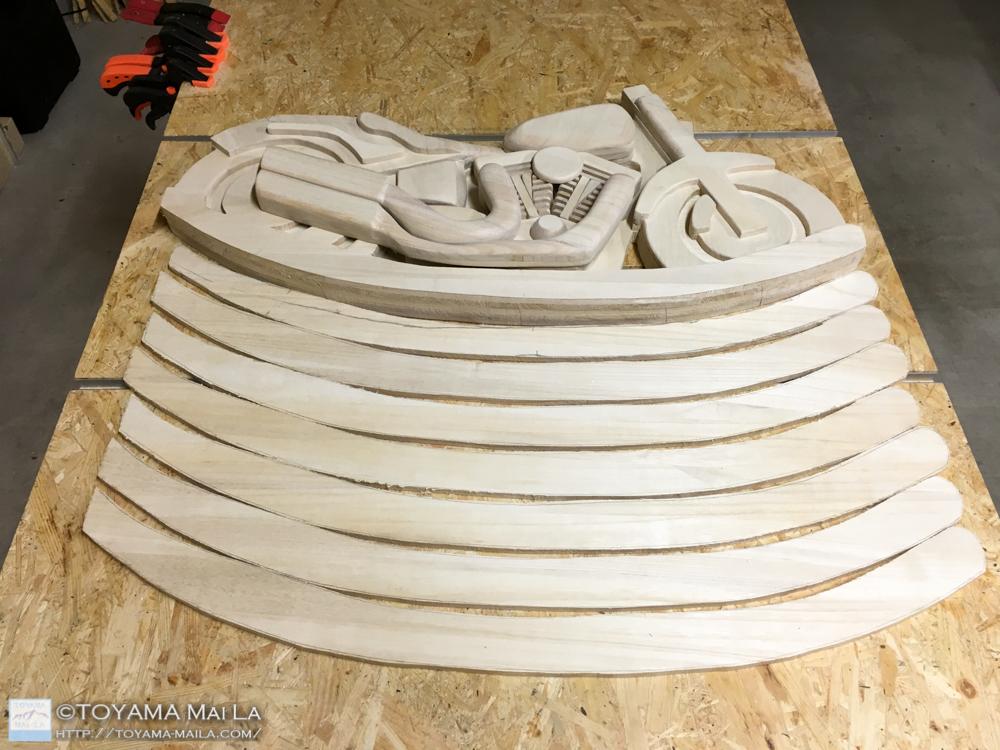 木バイク Day15 DIY 木馬 RockingMotorcycle 3