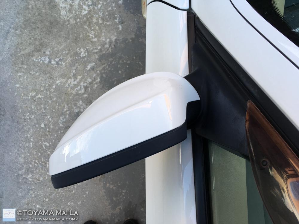 BMW E91 左ミラー 角度 修正 直し1
