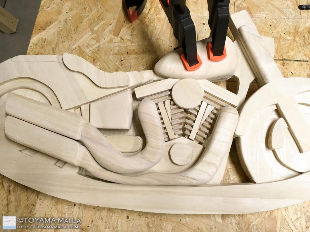 木バイク エンジン 木馬 DIY 木バイク  1