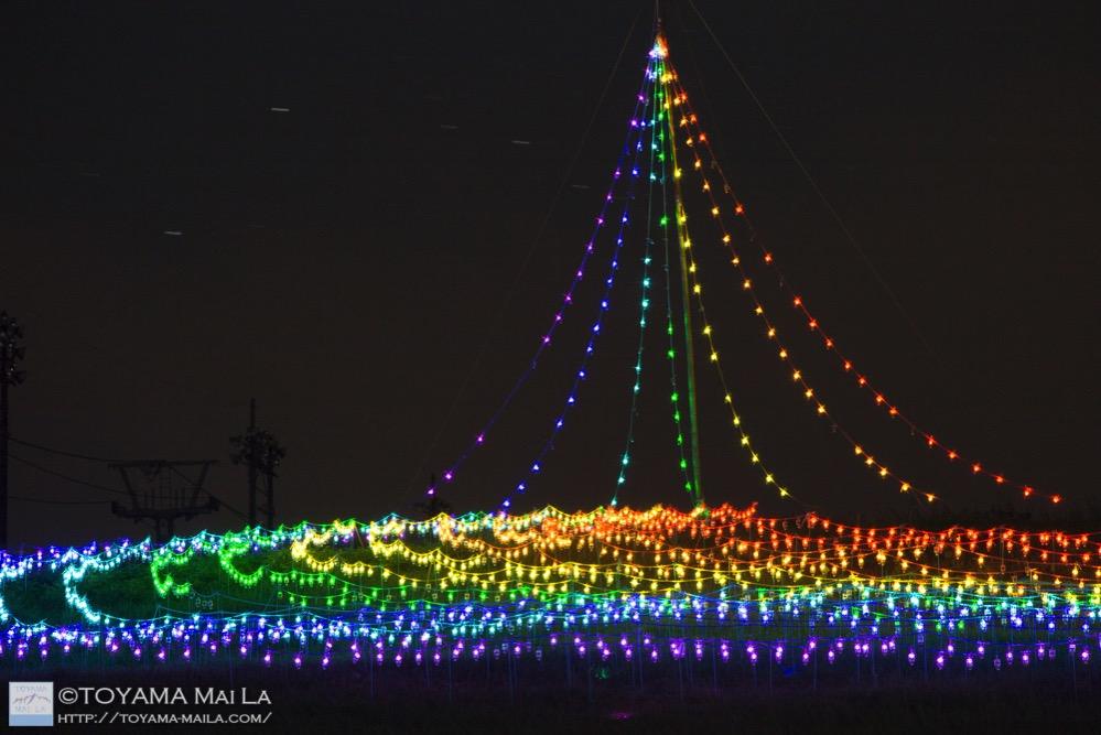 牛岳 イルミネーション 虹のかけはし 富山 4