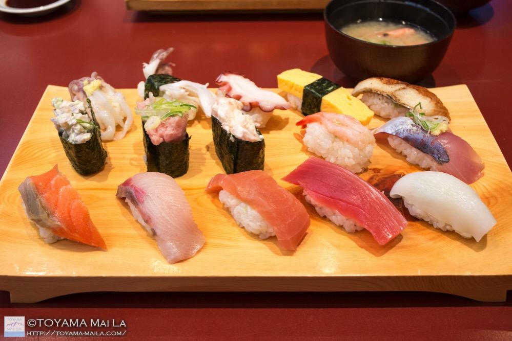 富山 番屋のすし ランチ toyama sushi lunch 1