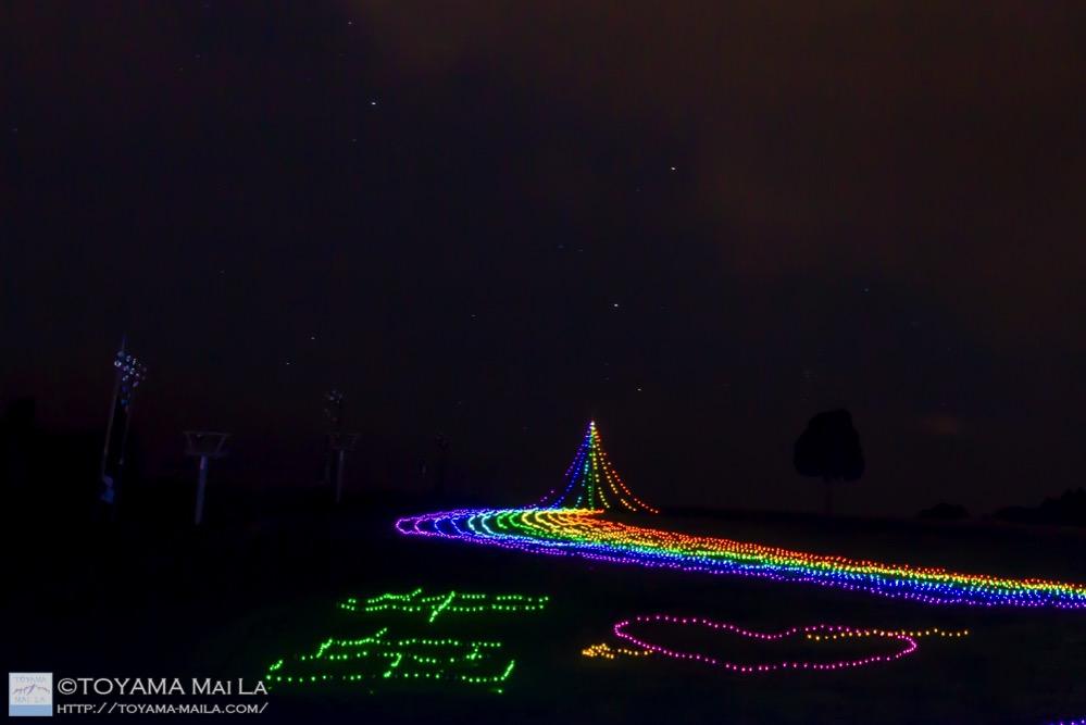 牛岳 イルミネーション 虹のかけはし 富山 2